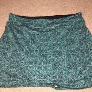 Turquoise patterned skort